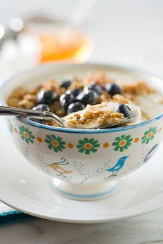 Yogurt, with Granola, Blueberries and Honey