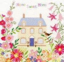 Bothy Threads - Home Sweet Home #crossstitch #crossstitching #crossstitchkits #bothythreadscrossstitchkits