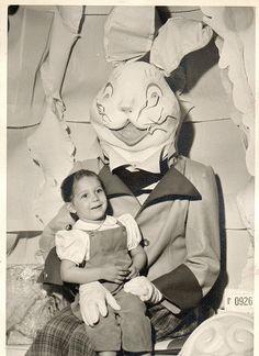 Creepy Vintage Easter Bunny