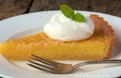 Lemon Chess Tart w/ Shortbread Crust