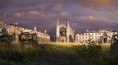 Imagined post-apocalyptic King's College, Cambridge.