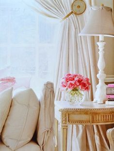 rose, interior, pink flowers, living rooms, color, lamp, family rooms, bedroom, curtain