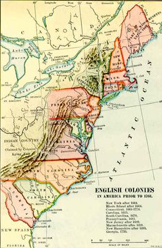 English colonies before 1763