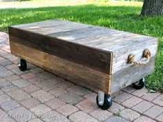 How to make a picket fence coffee table