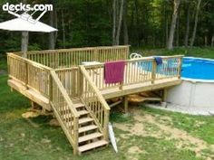 side deck off above ground pool