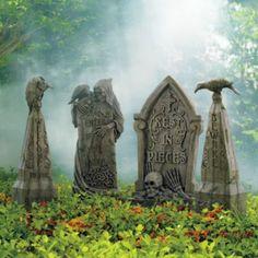 Faux Stone Halloween Tombstones
