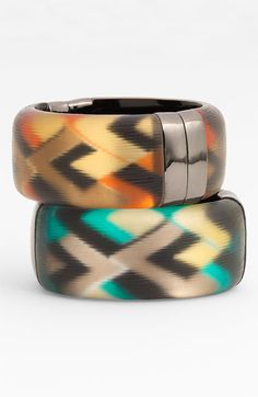 Alexis Bittar 'Geometric' Medium Hinged Bracelet (Nordstrom Exclusive) available at #Nordstrom