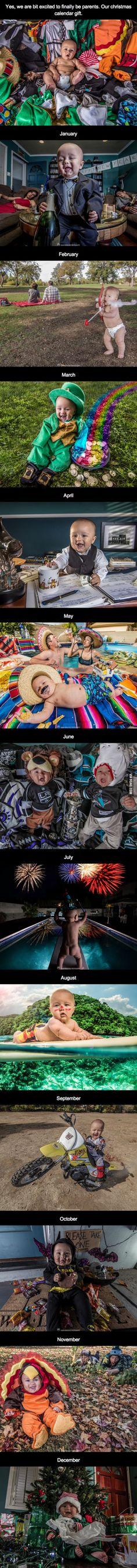 Awesome DIY Baby Calendar- hahaha