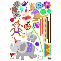 Reusable Decoration Wall Sticker Decal - ECO Cubic Circus http://www.bigbvg.com