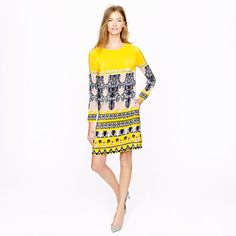 Jules dress in scroll print; love this, but not sure I can wear the color!