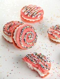 Baby Shower Dessert Ideas - Strawberry Milk Whoopie Pies