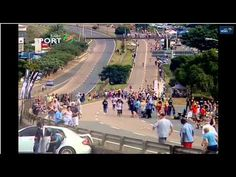 One of the much talked about events at the 2014 Comrades Marathon: the car crash that narrowly missed spectators - on live television.