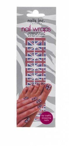 Union Jack nail wraps | nails inc