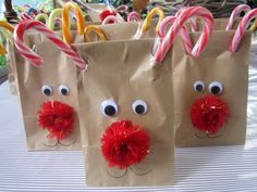 Rudolf bags for classmates (quick and easy to make but oh so cute!!!)
