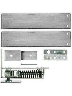 Double Action Floor Hinge. Standard Duty Swinging Door Floor Hinge With Plated-Steel Cover Plates