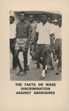 This leaflet produced by the Equal Wages for Aborigines committee shows Aboriginal workers marching in Darwin on May Day 1964 (Australia)
