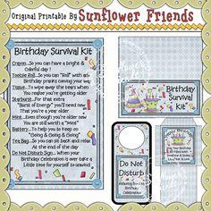 Birthday Survival Kit