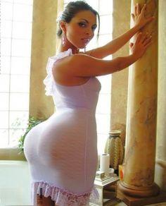 Sexy latino woman in white