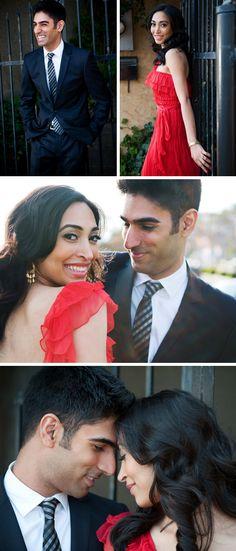 Zahir and Zahra's Romantic Engagement PhotosTheKnot.com -