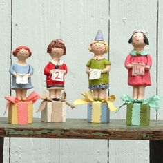 Paper Mache birthday girls - can customize
