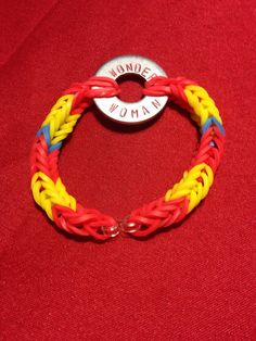 Wonder Woman Rubber Band bracelet by feltgourmet on Etsy, $10.00