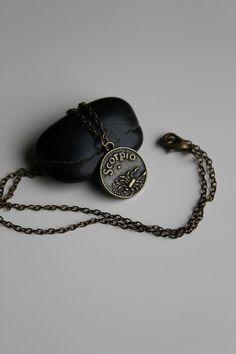 Scorpio Necklace $13.00, via Etsy.