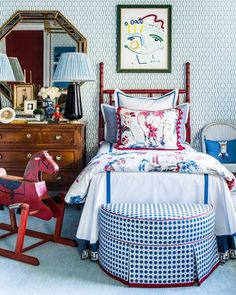 An Atlanta Designer's Colorful Take on Traditional Style – Blue and White Home