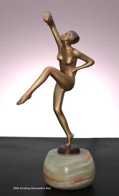 An Art Deco Lorenzl bronze, Austria 1930s.