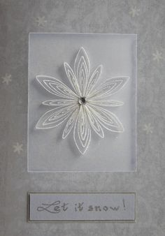 quilled snowflake quill snowflak