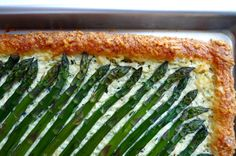 Asparagus, Zucchini and Ricotta Tart this is a delicious vegetarian option #food52#saveur#summerfoodfights