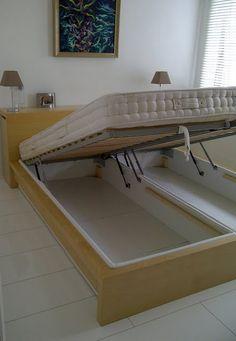 bed storage - ikea hack