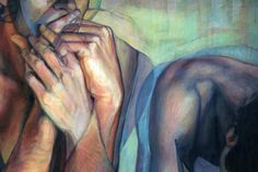 Painting of hands by David Agenjo.