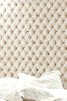 Padded Linen Beige Wallpaper - Koziel 10m Roll