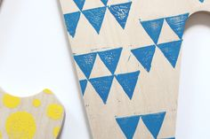 Block Printed Wooden Letters Kit
