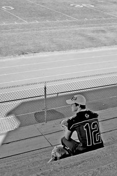 senior pictures - this would work in football or baseball bleachers too.