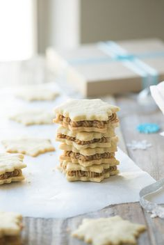 Vanilla Cardamom Shortbread Snowflake Sandwich Cookies www.pineappleandc... #fbcookieswap by PineappleAndCoconut, via Flickr