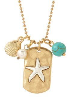I Love The Sea Charm Necklace