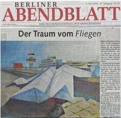 Neue Materialien und Papierflieger - Zeichnung von Susanne Haun  www.susannehaun.com