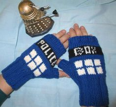 Dr. Who TARDIS Fingerless Gloves