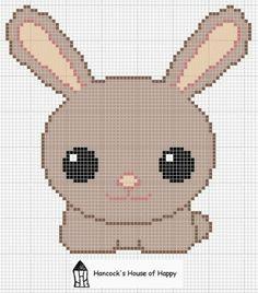 kawaii bunny chart, freebie, thanks so xox