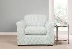 Sure Fit Slipcovers Stretch Ironworks Separate Seat Slipcovers - Chair