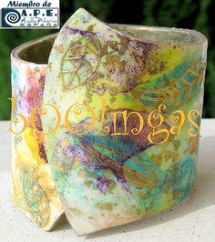 Polymer Clay Cuff Bracelet--