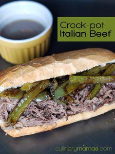 Crock-Pot Italian Beef Sandwiches