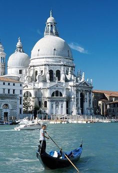 Basilica della Salute, Venice, Italy. Hop on a Gondola - book your hotel now: http://www.accommodation.com/search/venice