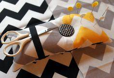 Tutorial: Quilted Chevron Pin Cushion