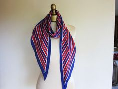 foulardfantastique has so many gorgeous vintage scarves to wear anyway you like... as a neck tie perhaps?    http://www.etsy.com/listing/99674567/anne-klein-patriotic-red-white-and-blue
