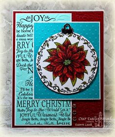 Stamps - Our Daily Bread Designs Poinsettia Ornament, Noel Ornament, ODBD Custom Matting Circles Dies,ODBD Custom Circle Ornament Die