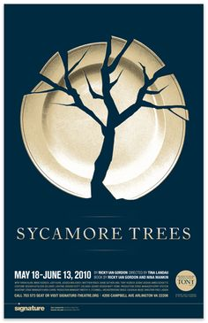 poster / Lucas Badger/Design Army graphic design, badgerdesign armi, poster design, creative poster, luca badgerdesign, negative space, sycamor tree, trees, design posters