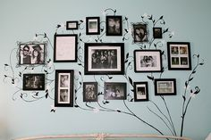DIY Photo Display - Only I'd use some color.