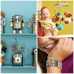 Recycled Crafts Projects for Kids, perfect for #earthday